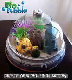 Bio Bubble Pets Aquarium with Spongebob Theme spongebobfishtank Spongebob Fish Tank, Spongebob Crafts, Unique Fish Tanks, Cool Fish Tanks, Underwater Bedroom, Class Pet, Spongebob Patrick, Home Aquarium, Pet Fish