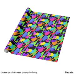 Guitar Splash Pattern Wrapping Paper