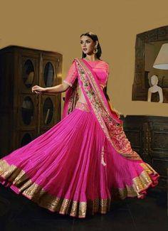 Pink Printed Designer Lehenga Choli ,Indian Dresses - 1