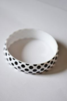 Bangles Black and White Dot Patterns Vintage Light Bracelet Jewelry for women #Box 1 by eventsmatters on Etsy