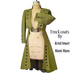Lime green steampunk/pirate frock coat.