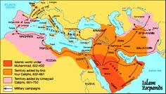 growth of the muslim empire maps - Google Search