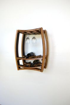Hanging Wine Barrel Rack with glass by winecountrycraftsman, $195.00
