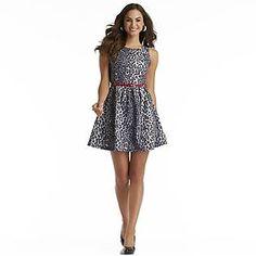 $24.99 - Attention - Women's Printed Fit & Flare Dress - Leopard Print - K-Mart