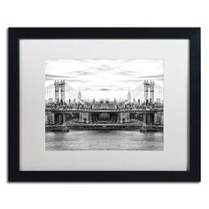 Trademark Art 'New York Reflection III' by Philippe Hugonnard Framed Photographic Print Size: 1