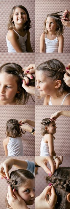 20 Quick And Easy Braids For Kids (Tutorial Included) 20 tranças para meninas Little Girl Braids, Little Girl Hairstyles, Pretty Hairstyles, Braided Hairstyles, Girls Braids, Kids Hairstyle, Hairstyle Ideas, Braids For Kids Tutorial, Hair Dos