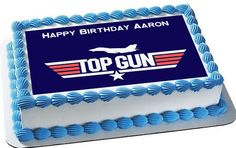 Top Gun Edible Birthday Cake Topper