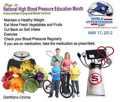 May is National High Blood Pressure Education Month May 17, World Hypertension Day