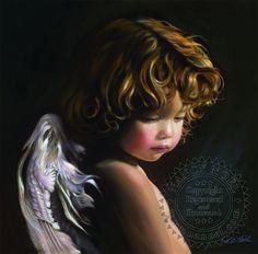 Angel Looking Down by Nancy Noel