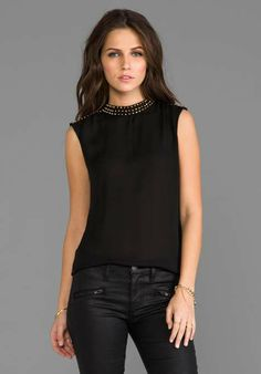 Love the Blaque Label Top on Wantering | Easy Breezy Blouses | womens black sleeveless blouse | womens top | fashion | style | wantering http://www.wantering.com/womens-clothing-item/top/afVwR/