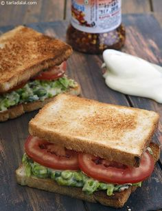 Green Pea and Spring Onion Sandwich
