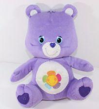 """Care Bears 2013 Harmony Teddy Bear 12"""" Purple Rainbow Flower Plush Kelly Toy"""