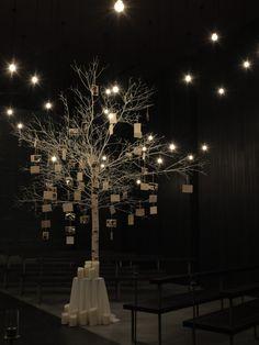 white wedding tree