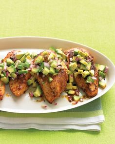 Cayenne-Rubbed Chicken with Avocado Salsa on your plate and Sutter Home Chenin Blanc in your glass.