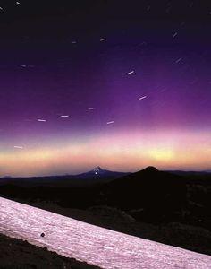 Northern lights over a beautiful Oregon sky.