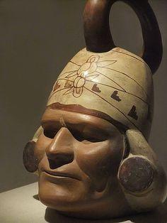 ( - p.mc.n.) Portrait Vessel of a Ruler Moche Peru 100 BC-500 AD