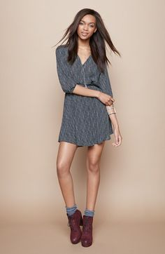 Pair with lace up booties and socks
