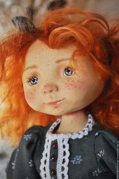 Купить ИСКОРКА кукла подвижная авторская коллекционная - рыжий, кукла, коллекционная кукла, аворская ку