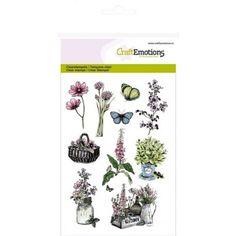 CraftEmotions+Clear+Stamps+-+Gartenblumen+-+Gesehen+bei+Karten-Kunst!