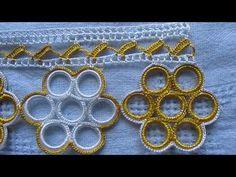 Çeyizlik Halkalı Kolay Havlu Kenarı Yapımı - YouTube Saree Tassels, Creative Embroidery, Bargello, Baby Knitting Patterns, Crochet Lace, Moda Emo, Piercings, Crocheted Flowers, Dish Towels