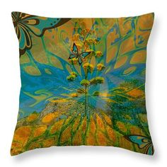 Groovy Throw Pillow by Mary Rush Gravelle