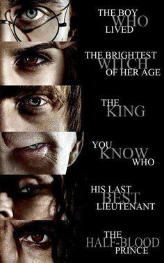 Harry Potter - Hermione Granger - Ron Weasley - Lord Voldemort - Bellatrix Lestrange - Severus Snape