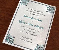 romantic letterpress wedding invitation by invitations by ajalon @Laura Harris @Sarah Chintomby Harris