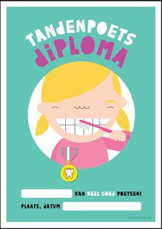 Tandenpoetsdiploma meisje