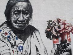 El Mac - Dia de Muertos en Pomuch (Seres Queridos) painted with spraypaint and fatcaps Campeche Mexico 2010