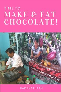 It doesn't have to be Valentine's Day to have chocolate! Make -- and eat -- your own year round the traditional Mayan way! http://www.hamanasi.com/belize-vacation/belize-chocolate-tour/