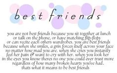 Yep this is so true.love my bff Best Friend Sister Quotes, Best Friend Quotes Meaningful, Love My Best Friend, Besties Quotes, Bestest Friend, Cute Quotes, Bestfriends, Bffs, Meant To Be Quotes
