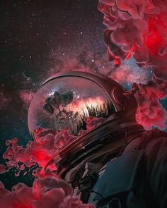 Digital Art Fantasy, Fantasy Art, Galaxy Wallpaper, Wallpaper Backgrounds, Mobile Wallpaper, Astronaut Wallpaper, Space Artwork, Space Fantasy, Alien Art