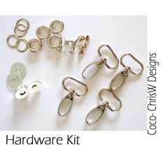 Purse Hardware kit in Nickel - Includes Hooks, Grommets, Rivets and Magnetic Snap for Coco bag pattern!