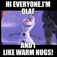 day 7: Olaf. without a doubt! he's so funny and caring. He is also a better love expert than the trolls. and likes warm hugs!
