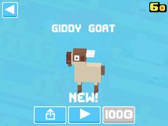 Just unlocked Giddy Goat! #crossyroad