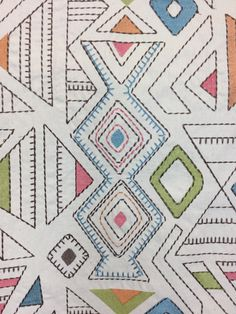 This Multicolored pattern has a variety of shapes and designs giving it an exciting look with a lot of movement. A great fabric for window treatments, headboards, pillows and many of your other home decor needs! Our talented team would be happy to help you with your home decor project! Geometric Fabric, Headboards, Window Treatments, Upholstery, Shapes, Quilts, Blanket, Pillows, Projects