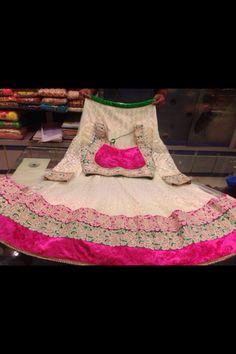Gujarati Dresses - White and Pink Chaniya Choli , $300.00 (http://www.gujaratidresses.com/white-and-pink-chaniya-choli/)