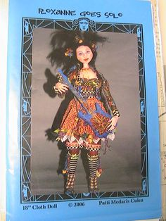 Cloth doll patterns by famous doll artists at www.stores.Ebay.com/GLORIANAEMPORIUM