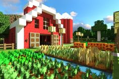 Minecraft Barn and Farm