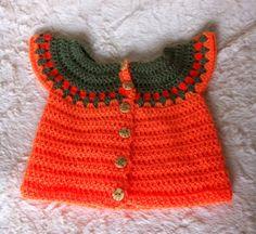 Chaleco de bebe en crochet
