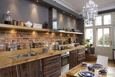 Rustykalne, ręcznie wykonane drewniane meble kuchenne na wymiar - Konar Meble