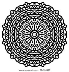 Mandala For Painting. Vector Ethnic Oriental Circle Ornament. Great for Antistress Coloring Book, Artmeditation.