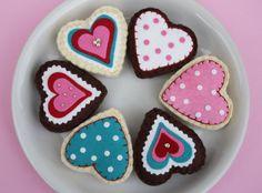 magnet felt heart sugar cookies