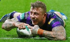 Josh Charnley scores the second try for Wigan Warriors in their 22-8 victory over Huddersfield Giants