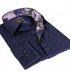 Avenue 21 Herrem Hemden Slim-fit Grau gemustert  Bordüre mit hellblaue Muster Slim Fit, Denim, Jackets, Fashion, Button Up Shirts, Light Blue, Grey, Patterns, Down Jackets