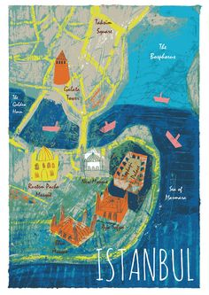 Miranda Sofroniou. - map of Istanbul