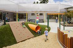 Photo of Earl Boyles Elementary project School Architecture, Landscape Architecture, Landscape Design, Architecture Design, Architecture Sketches, Kindergarten Interior, Kindergarten Design, Playground Design, Backyard Playground