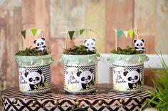 A panda lover party Panda Themed Party, Panda Birthday Party, Panda Party, Bear Birthday, Baby Shower Centerpieces, Party Centerpieces, Baby Shower Favors, Cookie Pops, Panda Baby Showers