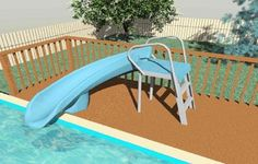 Inflatable above ground pool slide. Decks Above Ground Pool Deck Picture Slides Cheap Inground Swimming Above Ground Swimming Pool Slides Inflatable Water Slide Above Ground Pool Slides For Home Pools Above Ground Pool Slide, Above Ground Swimming Pools, In Ground Pools, Pool Deck Plans, Deck Building Plans, Oberirdische Pools, Cool Pools, Cabana, Swimming Pool Slides