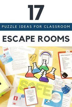 Escape The Classroom, Escape Room For Kids, Escape Room Puzzles, Escape Puzzle, Science Room, Science Classroom, Science Week, Classroom Board, Math Activities For Kids